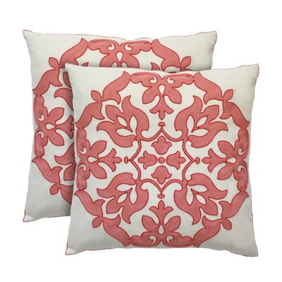 Haven Cotton Throw Pillow Color: Flamingo