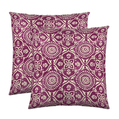 Adara Throw Pillow Color: Fuchsia