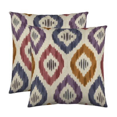 Aura Throw Pillow Color: Prism