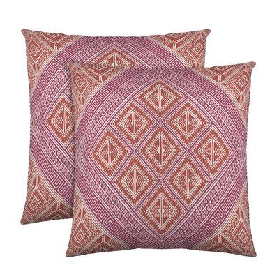 Kenzie Cotton Throw Pillow Color: Coral