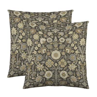 Indira Cotton Throw Pillow Color: Slate