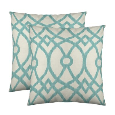 Piper Throw Pillow Color: Aqua