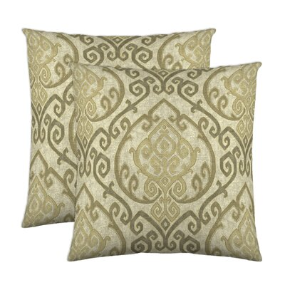 Zaya Cotton Throw Pillow Color: Natural