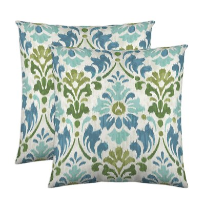 Sasha Cotton Throw Pillow Color: Seamoss