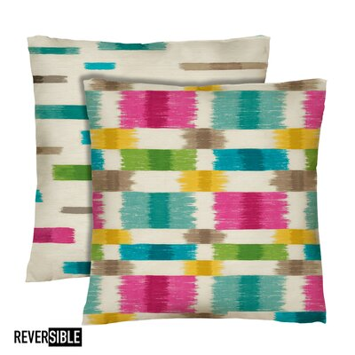 Barnaby Cotton Throw Pillow Color: Prism
