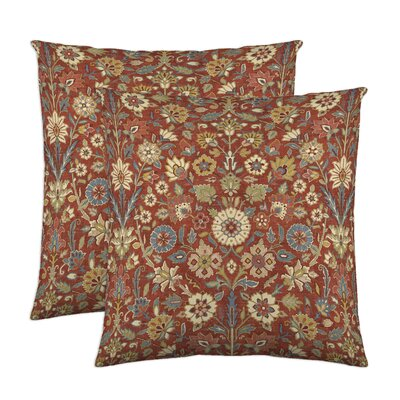 Indira Cotton Throw Pillow Color: Crimson