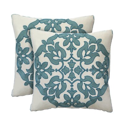 Haven Cotton Throw Pillow Color: Mist