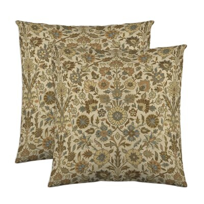 Indira Cotton Throw Pillow Color: Nutmeg