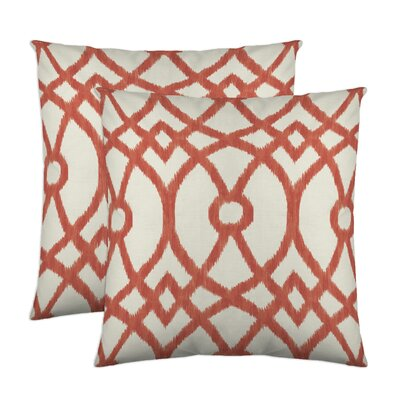 Piper Throw Pillow Color: Coral