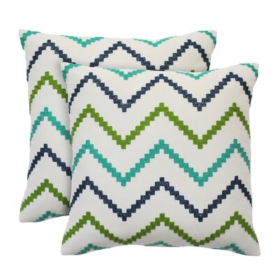 Wren Cotton Throw Pillow Color: Jade