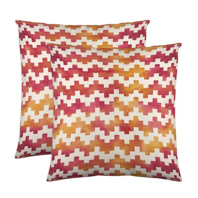 Pixie Cotton Throw Pillow Color: Coral Haze