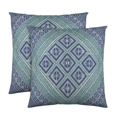 Kenzie Cotton Throw Pillow Color: Teal
