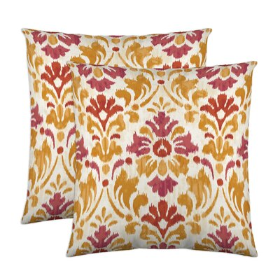 Sasha Cotton Throw Pillow Color: Sorbet