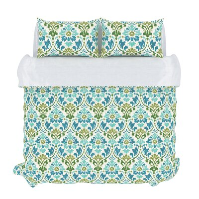 Sasha 3 Piece Duvet Set Size: Queen, Color: Seamoss