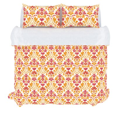 Sasha 3 Piece Duvet Set Size: Queen, Color: Sorbet