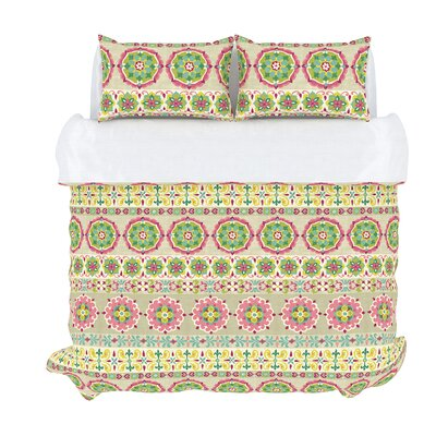 Bliss 3 Piece Duvet Set Color: Peony, Size: King