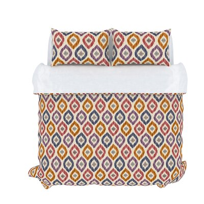 Aura 3 Piece Duvet Set Size: Queen, Color: Prism