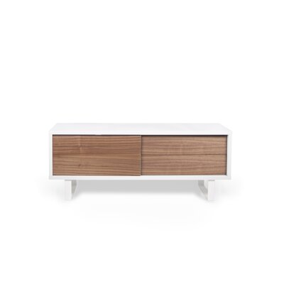 Nilo 59 TV Stand Color: Pure White / Walnut