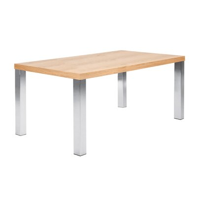 Durkee Dining Table Top Finish: Oak / Chrome, Size: 28 H x 63 L x 35 W