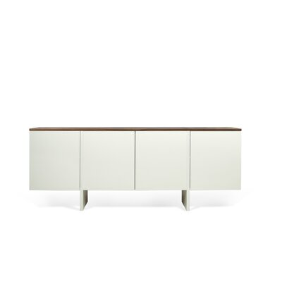Edge Sideboard Color: Matte White / Walnut