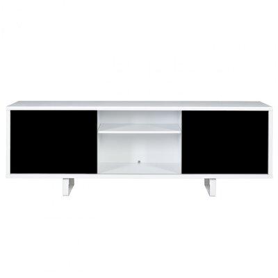 Slide TV Stand Finish: Pure White Frame/ Pure Black Doors