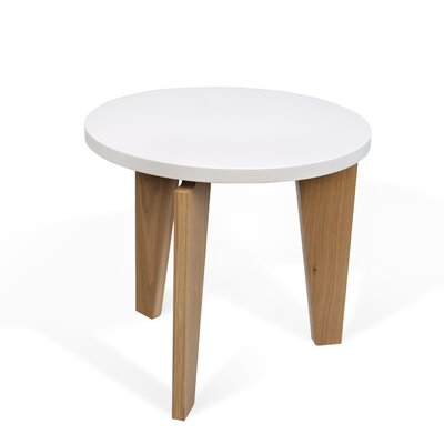 Magnolia End Table Table Top Color: Matte White