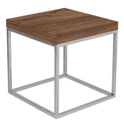 Prairie End Table Color: Walnut / Chrome