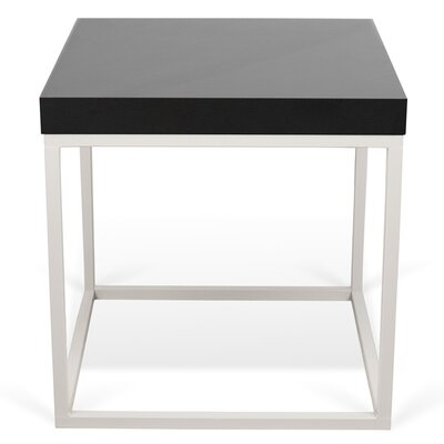 Prairie End Table Color: Black Lacquered / White Lacquered