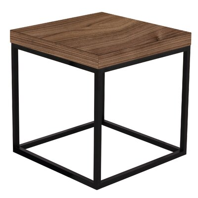 Prairie End Table Finish: Walnut / Black Lacquered