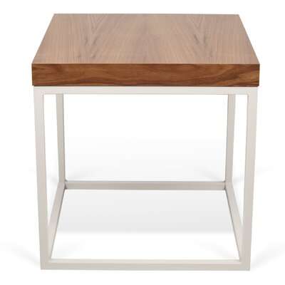 Prairie End Table Color: Walnut / White Lacquered