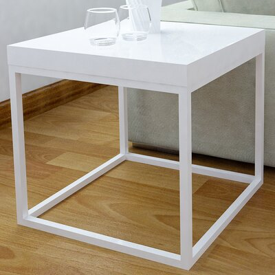 Prairie End Table Color: White Lacquered