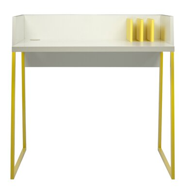 Volga Computer Desk Finish: Matte White / Matte Yellow Product Photo 3129