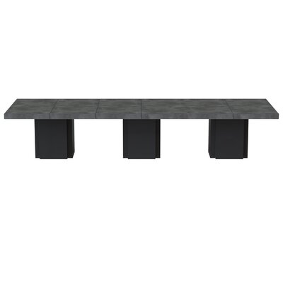 Dusk Dining Table Finish: Concrete / Pure Black