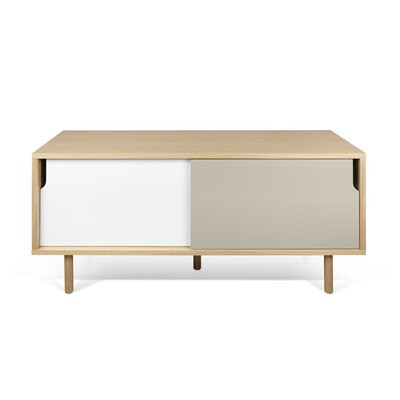 Dann 53 TV Stand Color: Oak / Pure White / Matte Grey