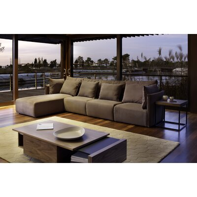 Dune Extended Sectional Upholstery: Track Anthracite, Orientation: Right Hand Facing