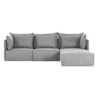 Dune Modular Sectional Upholstery: Gray, Orientation: Right Hand Facing