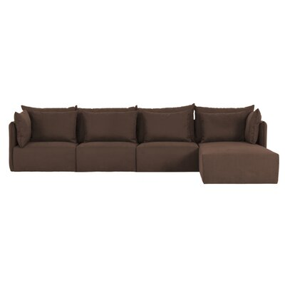Dune Extended Sectional Upholstery: Brown, Orientation: Right Hand Facing