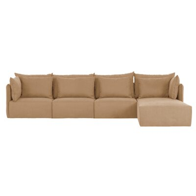 Dune Extended Sectional Upholstery: Beige, Orientation: Right Hand Facing
