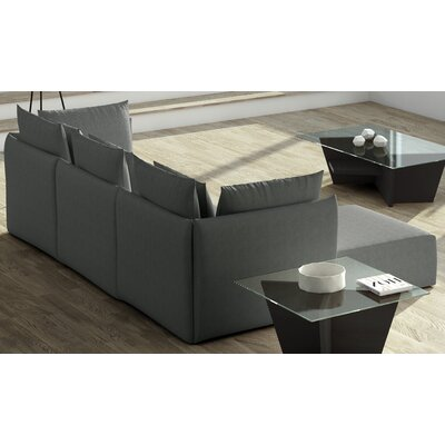 Dune Extended Sectional Upholstery: Gray, Orientation: Left Hand Facing