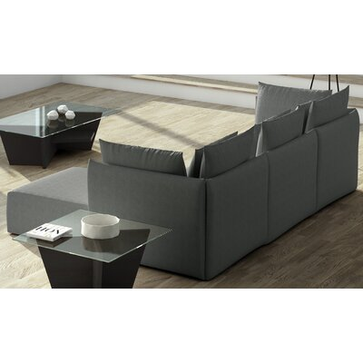 Dune Extended Sectional Upholstery: Gray, Orientation: Right Hand Facing