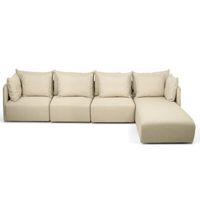 Dune Extended Sectional Upholstery: Track Beige, Orientation: Right Hand Facing