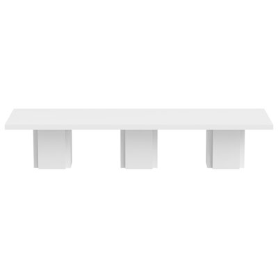 Dusk Dining Table Finish: High Gloss White