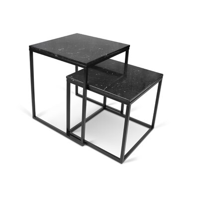 Prairie 2 Piece Nesting Tables Finish: Black / Black
