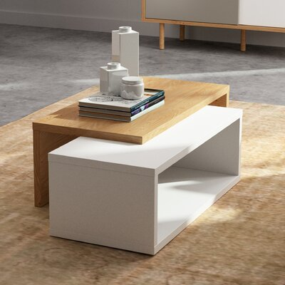 Jazz Coffee Table Top Color: Pure White / Oak