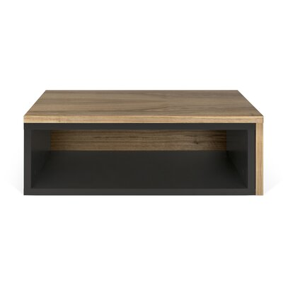 Jazz Coffee Table Top Color: Pure Black / Walnut