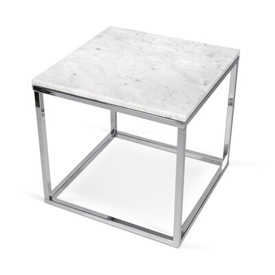 Prairie End Table Finish: White / Chrome
