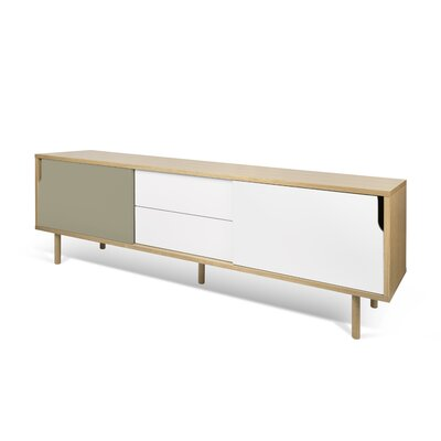 Dann Sideboard Finish: Oak / Pure White / Matte Grey