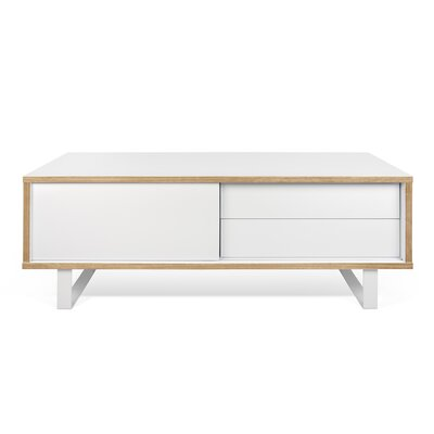 Nilo TV Stand Finish: Pure White / Pure White  / Plywood Edge