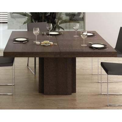 Dion Dining Table Size: 30 H x 51 W x 51 D, Finish: Concrete/Pure Black