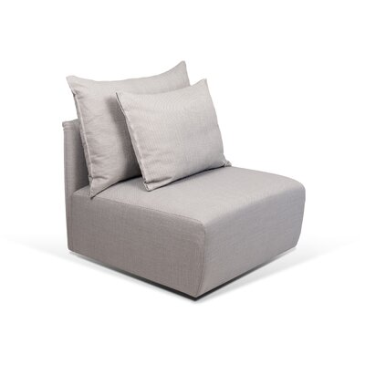 Dune Armless Side Chair Upholstery: Track Grey